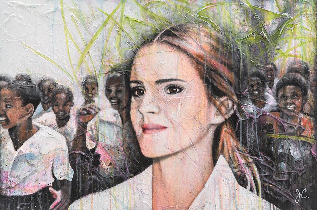 johanne-couture-artiste-peintre-portrait-emma-watson-peinture-sur-toile